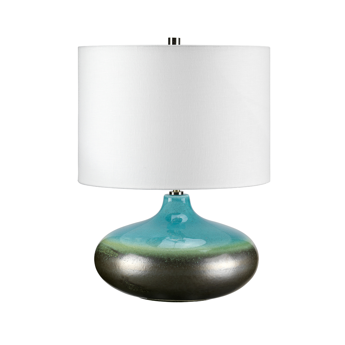 Image of: 31299 Table Lamp In Ceramic With Turquoise And Graphite Reactive Glaze Distinctive Lighting Uk